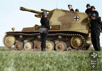 Sd. Kfz. 124 Wespe Self-Propelled Howitzer by MartynMilitary