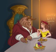 Beauty And The Beast by MGart17
