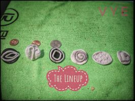 Making Clay stamps using PolymerClay by Vyechi