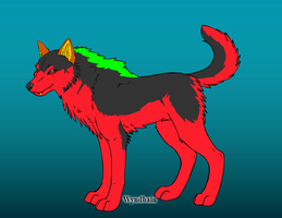 Firestripe made on wolf maker by QuestionUnicorn