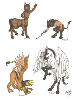 Fantastic Creatures by MelmelDraws