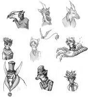 D. Gray-man animal sketches by nightwindwolf95