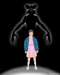 Eleven and Demogorgon by grdobina