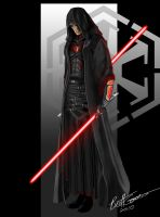 Sith Lord in Partial armor by Torelvorn
