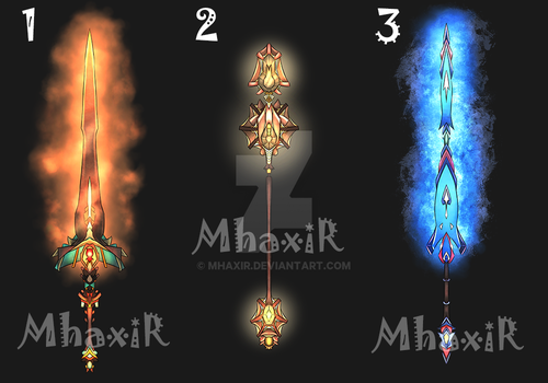 [CLOSED] Design Adopt Weapon - 14 by MhaxiR
