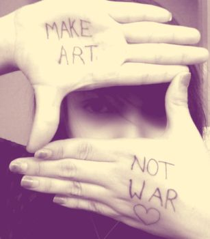 MAKE ART NOT WAR by AishiteruTsuki
