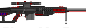 DII-DSC AAMR-T250 'Hellstorm' Anti-Material Rifle by Lord-DracoDraconis