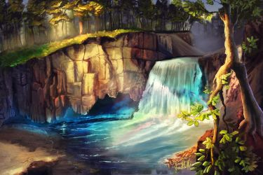 Rainbow Falls by chateaugrief