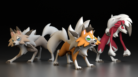 #745. Lycanroc by TheAdorableOshawott