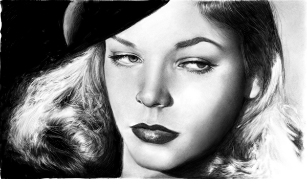 Lauren Bacall by mwford