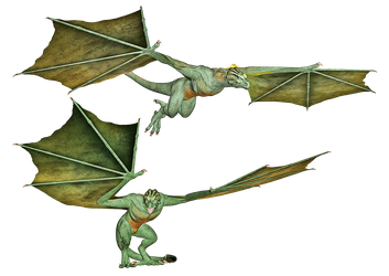 Dragon 04 PNG Stock by Roy3D
