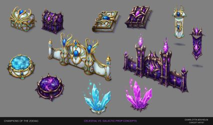 Champions of the Zodiac - Map Props and Buildings by CharlottaBavholm