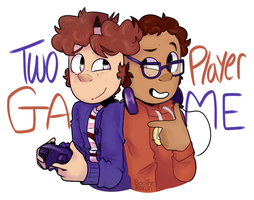 Two Player Game [Sticker] by BooTheRakun