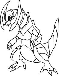 Pokemon: Haxorus Lineart by dark--miracles