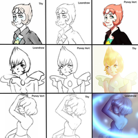 Switch around meme Pearl Steven Universe by Leandraw