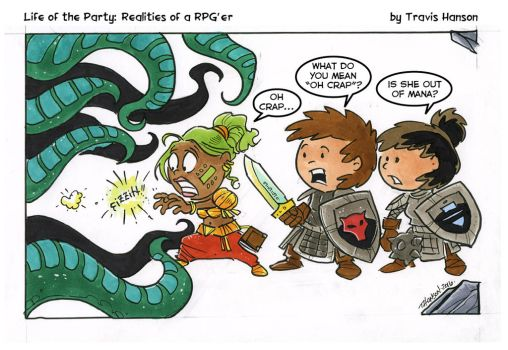 Need more mana! RPG Comic by travisJhanson