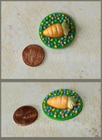 Easter Carrot Cake And Jelly Beans Platter - OOAK by Kyle-Lefort