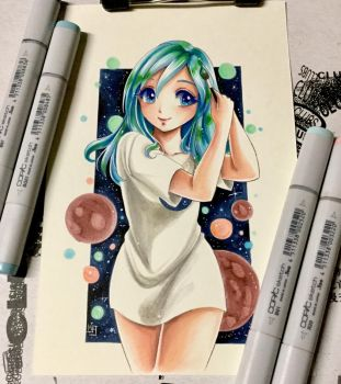 Azure Cosplaying Earth-Chan by mejllano