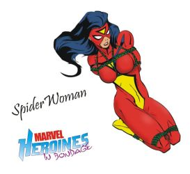 Spiderwoman in bondage by Mikey111