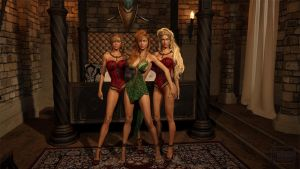 Elven MILF and Her Daughters by Gator3D