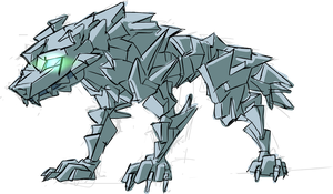 Ice wolf concept  -- spoiler by gnomKOLIN