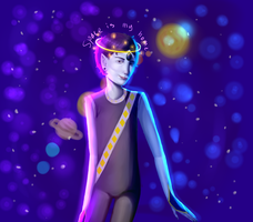 Space child (Redrawing of the cringy gemsona) by XeniumZ