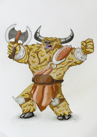 Mini Minotaur art by niC00L