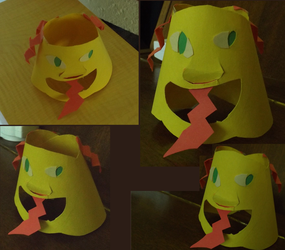 sharp-tounged airhead paper figure by sheveroone