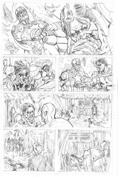 Captain America comedian sample page 2 by qiunzo