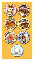 Canadian Yums - Button Set by kehrilyn