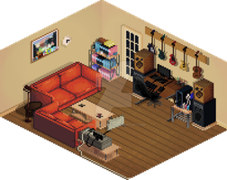 Living Room by CharlotteHewins