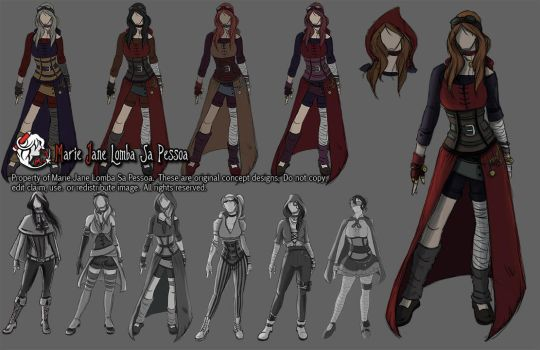 Character Concept - Little Red Riding Hood by MarieJaneWorks