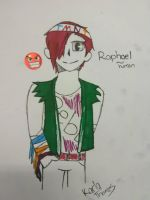Raphael human by Unknowndemon626