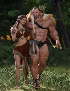 Hercules and Deianira by SimonWM