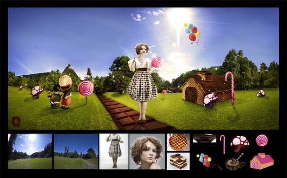 Barbie in a candy land by femmevanjava
