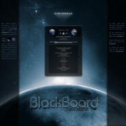 BlackBoard BlueMarble by OtisBee