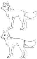 Free canine lineart. by sippet
