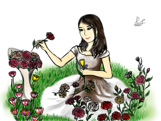 In The Flower Field by Cialing