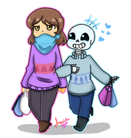 Shoping With Sans by jjaydazo