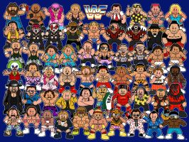 WWF Superstars by samuelwyoung