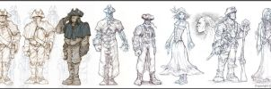 Fable 2 Character concepts by OmenD4
