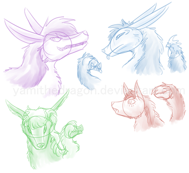 Some Elocairs by YamiTheDragon