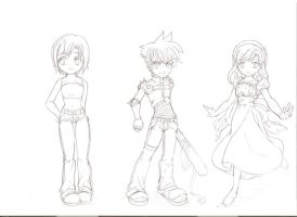 The Chibi Character sketch XD by lyanora