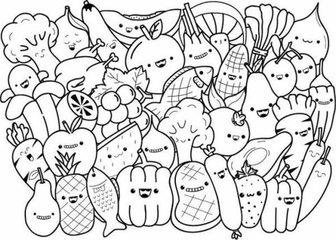 doodle vegetables and fruit by dixi99