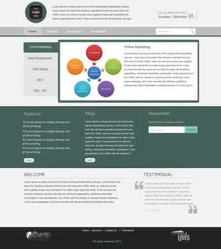 Another Business Web layout by lougie24