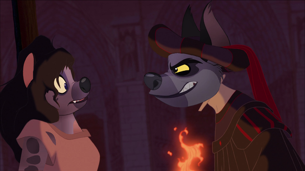 Jasiri and Janja in Hunchback of Notre Dame style by Through-the-movies