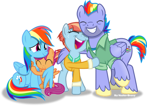Dashie's family by Vector-Brony