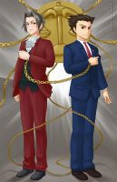 Phoenix Wright and Miles Edgeworth! by sammich
