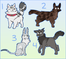 Warriors / Cat Adopts - CLOSED by spaceteej