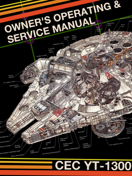 Millennium Falcon Owner's Manual Cover clean by MayLyn15